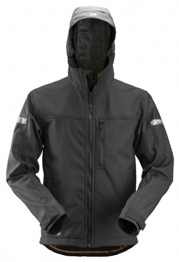 Snickers 1229 AllroundWork Softshell Jacket with Hood (Black/Black)